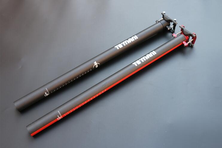 ФОТО Full Carbon Fiber Folding Bicycle Seat Post Adjustable Bike Seatpost Bicycle Parts 3K Matte 33.9/34.9*580mm