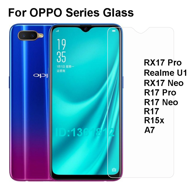 OPPO R17 R15x A7 RX17 Pro Neo Tempered Glass Protective Film For OPPO Realme U1 Glass Screen Protector Mobile Phone Film