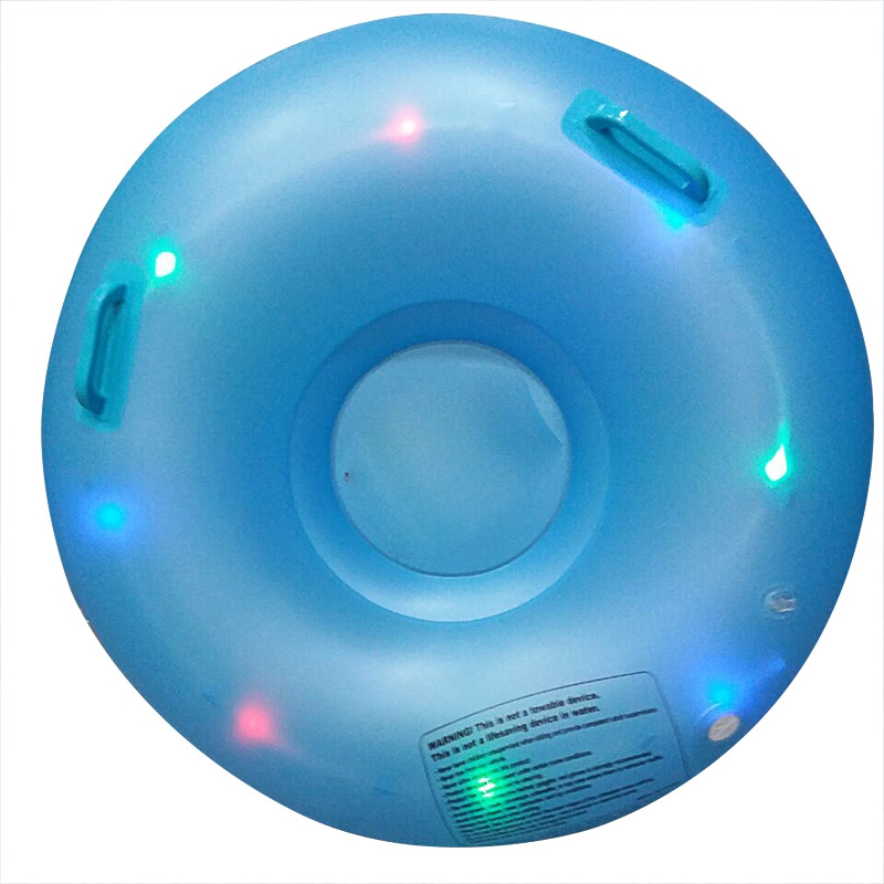 Mounchain Inflatable LED Flash Ski Circle of Snow Tube Skating Skiing Outdoor Sports Toys Blue brand name flexible flyer snow twist inflatble snow tube sports tube winter ski circle sledge twist for 2 person 2015 new style