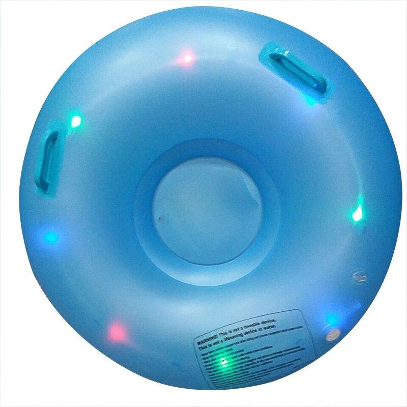 Mounchain LED gonflable Flash cercle de Ski de neige Tube patinage Ski Sports de plein air jouets bleu