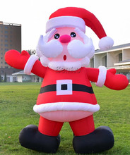 X149Free shipping Christmas Decorations Inflatable Santa Holding Xmas Gifts Holiday Decoration
