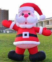 X149Free shipping font b Christmas b font Decorations Inflatable Santa Holding Xmas font b Gifts b