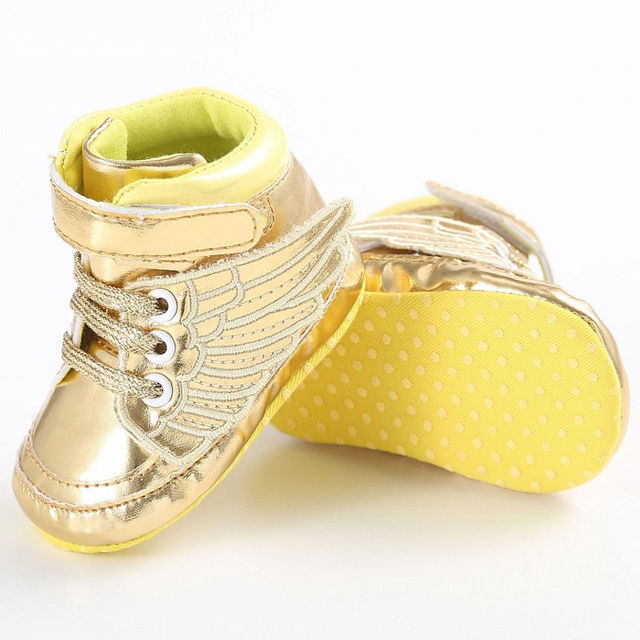 d9283a6235eb Newborn Baby Shoes Infant Toddler Baby Boy Girl Wing Crib Shoes Babes Sole  Soft PU Bling Sneaker Shoes 3-18 Months