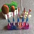 Pincéis de Maquiagem 5 pcs Conjuntos de escova de dentes Escova de Dentes Professional Make up Escova Oval Fundação sombra Em Pó Escovas Kit com Suporte
