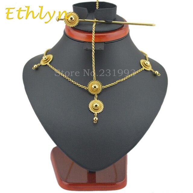 7d7b91be7cd Ethlyn chaude cheveux Éthiopienne accessoires bijoux de cheveux cheveux  bâton Or Couleur bijoux accessoires