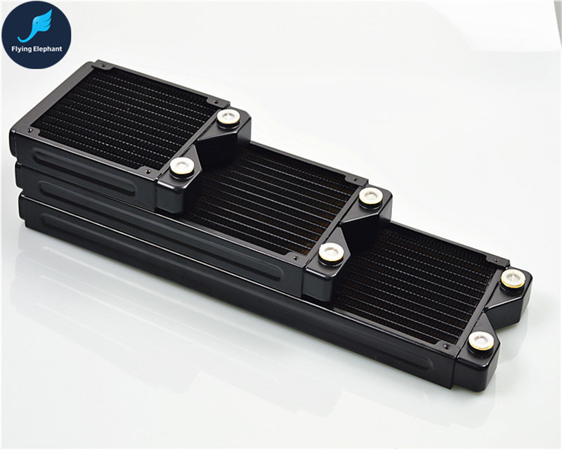 120/240/360mm*27mm Full Copper Radiator Computer Water Cooled Row black Heat Exchanger for PC water cooling aluminum water cooling 120 240 360 radiator liquid cooler for 120mm fan g1 4 heat exchanger cooled computer