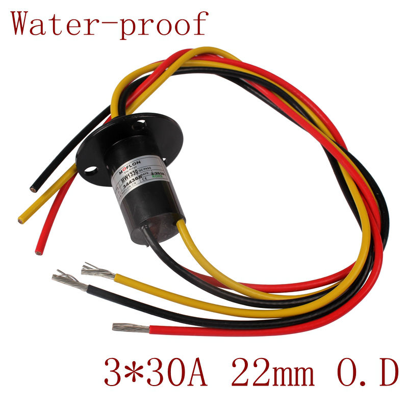3 Wires 30a Capsule Slip Ring For Wind Turbine Generator