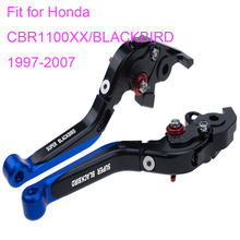 KODASKIN Left and Right Folding Extendable Brake Clutch Levers for Honda CBR1100XX/BLACKBIRD 1997-2007 free shipping cnc 6 position folding foldable extendable brake clutch lever for honda cbr1100xx blackbird 1997 2007 98 99 00