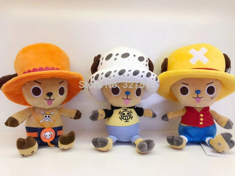 Anime One Piece Chopper figures plush doll Chopper cosplay Luffy,Law,Ace figure Plush toys gift