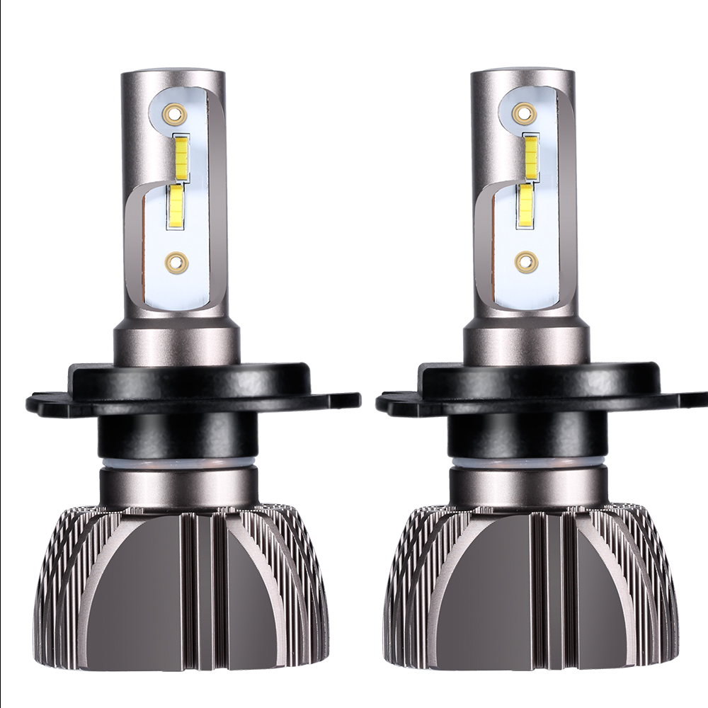 LED H4 Car Bulbs 6500K All-in-one H7 LED Headlight Fanless Auto Lamps SUV 50W CSP Chips H11 Fog Lamp 9005 9006 H3 H1 Leds 12V auxmart auto led h1 h3 9005 9006 h7 led headlight car lights 72w 6500k h8 led h11 fog lamps cob chips led h4 car bulbs t5 series
