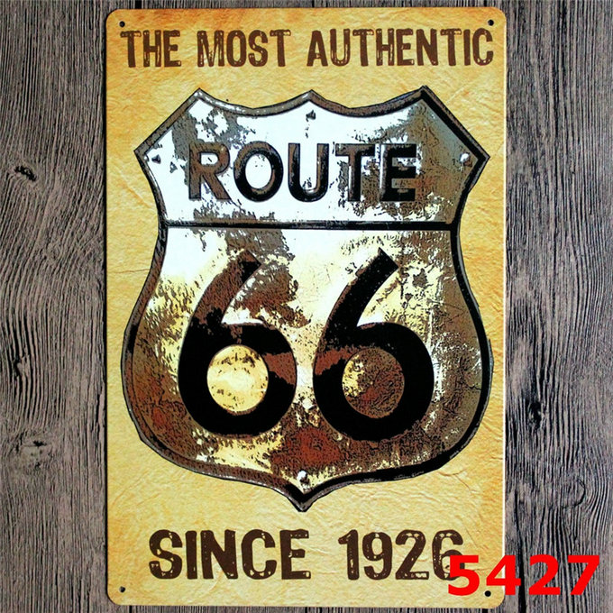 US $4 98 30% OFF|I Love Riding Home Wall Decor US Route 66 Motorcycles Art  Painting Plaque Gas Station Retro Metal Tin Signs YN031-in Plaques & Signs
