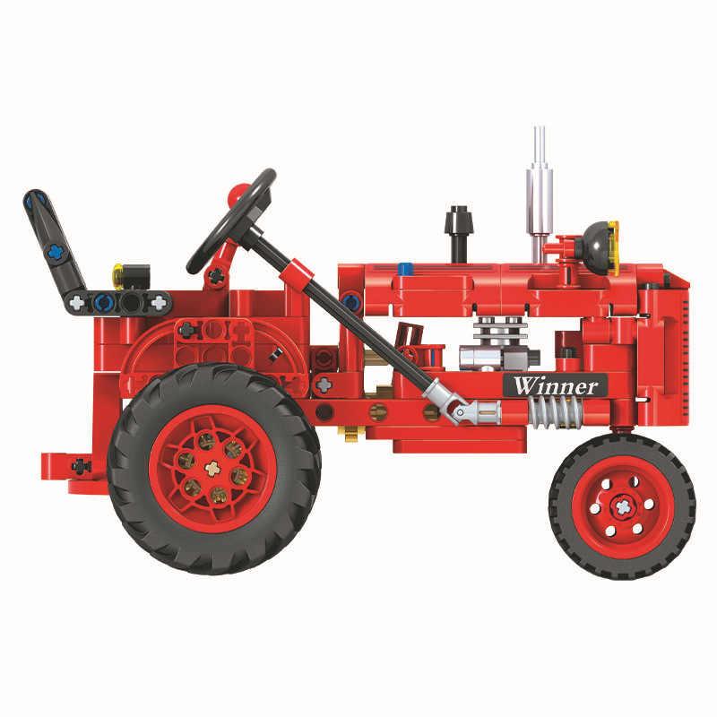 Teknik Kota Klasik Model Traktor Legoes Blok Bangunan Set Batu Bata Anak-anak Klasik Mainan Hadiah untuk Anak-anak