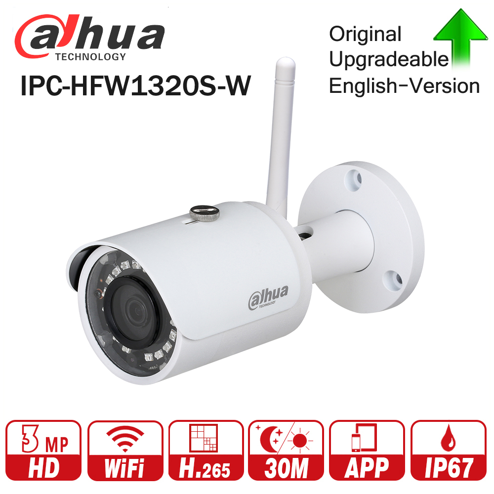 Dahua IPC-HFW1320S-W 3MP HD IP Security Camera WiFi POE WDR IP67 IR 30m Network