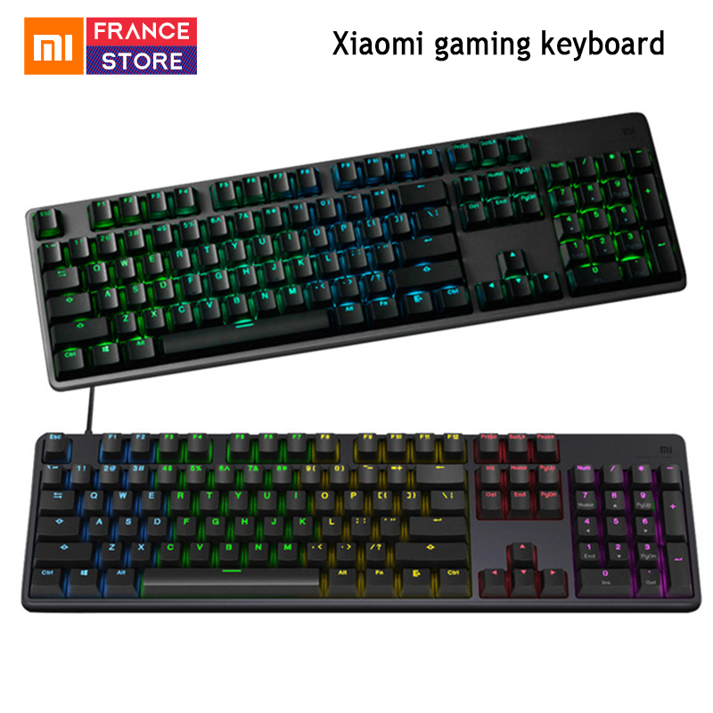 New Original Xiaomi Mi Gaming Keyboard 104 Keys Professional RGB Colorful Backlight Keyboard USB Wired For