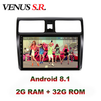 VenusSR Android 8.1 IPS 2G+32G 8 CORE Car DVD Player GPS Navigation Multimedia For Suzuki Swift radio 2008 2015 car stereo