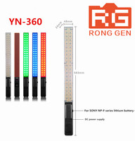 YONGNUO YN360 Handheld LED Video Light 3200k 5500k RGB Colorful 39.5CM Ice Stick Professional Photo LED light yn 360 wand