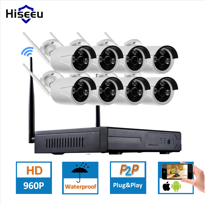 bilder für 8CH 960 P HD Drahtlose CCTV SystemIP Kamera WIFI DVR NVR kit Freien Cctv-kamera-kit Home Security System Kit Hiseeu