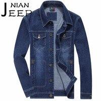 NIAN AFS JEEP 2017 Autumn Winter Man S Fashion Denim Jacket Sky Blue Multibolsa Cargo Denim