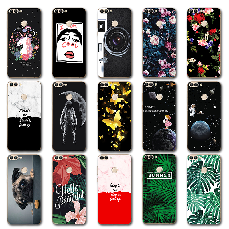 Newest Fashion Lovers Case Leaves For Huawei <font><b>P</b></font> <font><b>Smart</b></font> FIG-LX1 Cute Planet Back Cover For Huawei PSmart Fundas Phone Shell <font><b>5.65</b></font>
