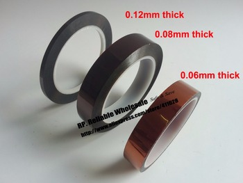 55mm*33M* 0.12mm thick, High Temperature Resist Poly imide tape fit for Lithium Battery Polarity Protection, Motor Insulation