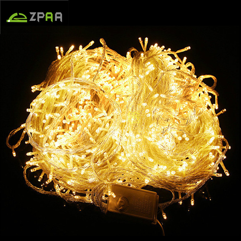 50M/400 100M/800 LED Fairy LED String Light Outdoor Waterproof AC220V Holiday String Garland For Xmas Christmas Wedding Party