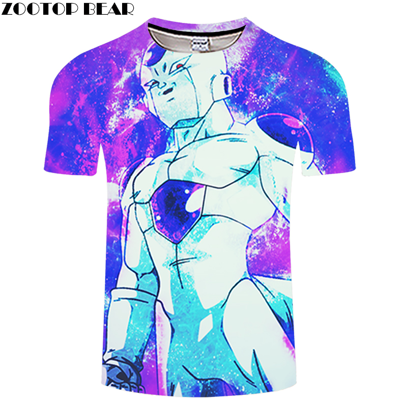 Warrior 3D Print T shirt Men Women Summer Anime Streetwear Dragon Ball Boys Tops&Tees Tshirts Vegeta Drop Ship ZOOTOP BEAR