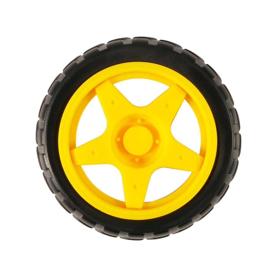 Tt rodas do motor do motor do carro inteligente chassis robô de controle remoto carro rodas para arduino kit diy