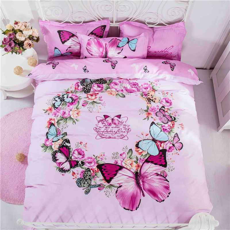Good Quality Butterfly Duvet Cover Twin Bed Queen Size