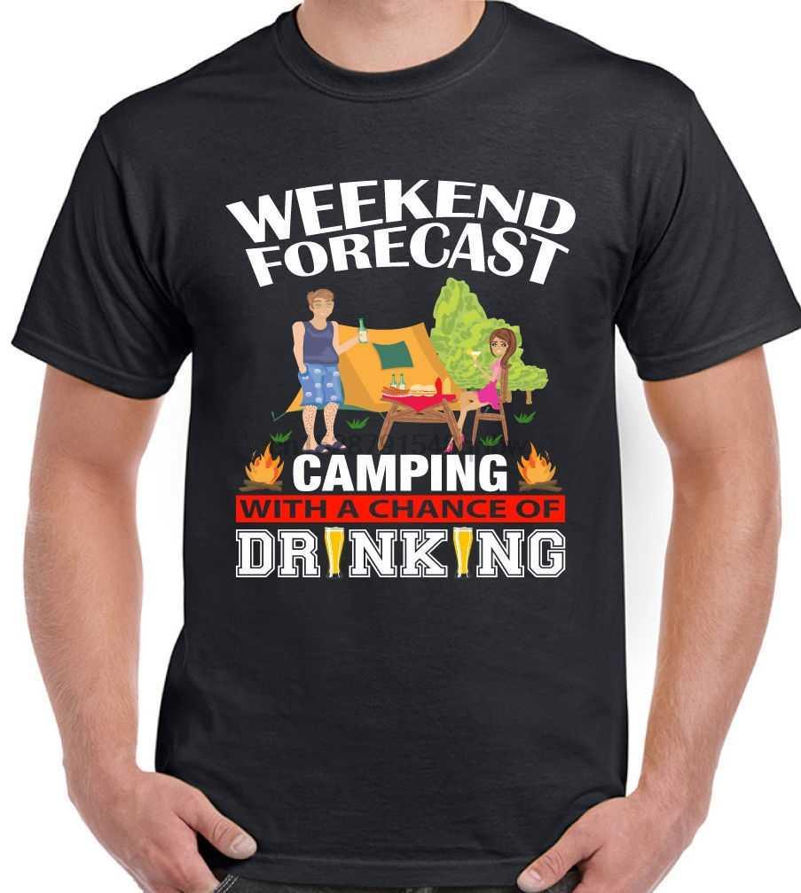 Weekend Forecast Питьевая Мужская забавная футболка фестиваль Гластонбери V палатка