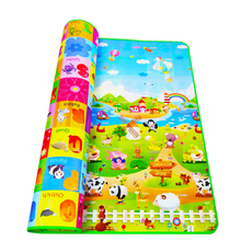 New Doulble-Site Baby Play Mat 2*1.8 Meter Fruit Letters And Happy Farm Child Beach Mat Picnic Carpet Baby Crawling Mat CM-015 недорого