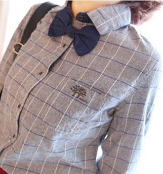 font b Womens b font font b Classic b font Vintage Plaid Shirt 2017 Spring