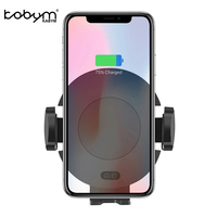 Kabym Auto Car Wireless Charger qi induction Fast Air Vent Mount Holder Cradle S7 S8 S9 for iPhone 8 X Type c