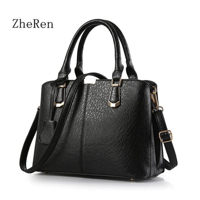 Bolsas femininas bolsas de Couro Shoulder Bag Médio Hot Famosa Marca de Luxo Mulheres 2017 Das Mulheres Bolsa Feminina Bolsa Tote