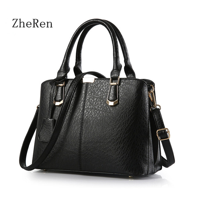 Women handbags handbags Leather Medium Shoulder Bag Hot Luxury Famous Brand Women 2017 Women Handbag Female Bag Tote