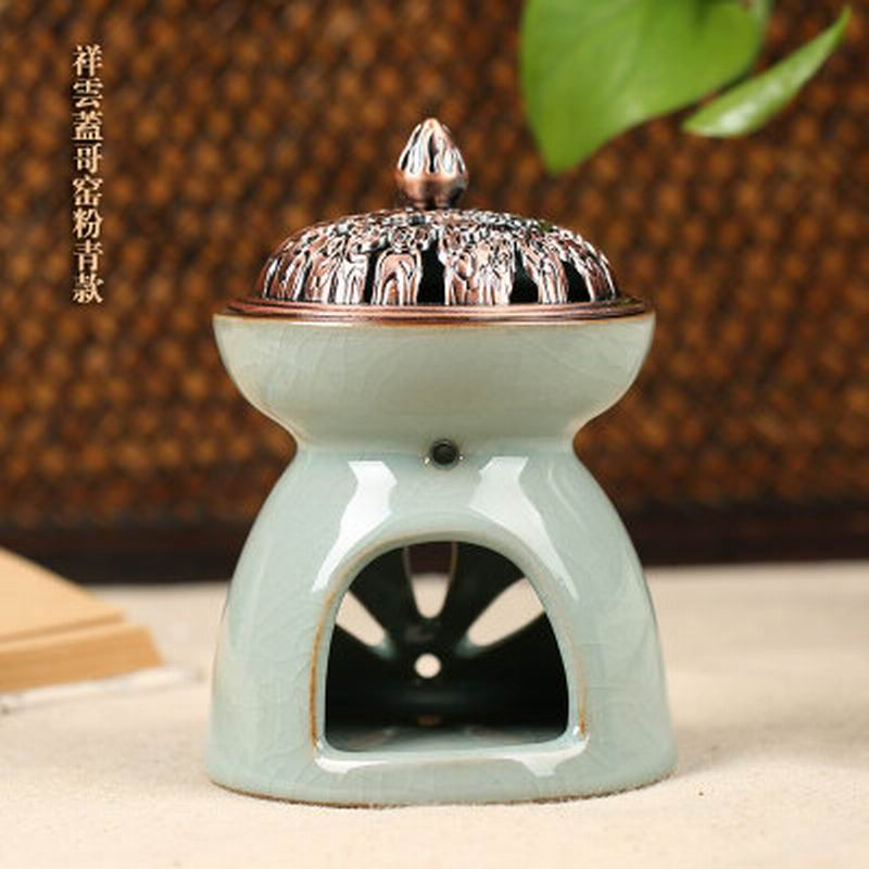 Celadon Large Capacity Light Incense Fragrance Lamp Oil Light Oil