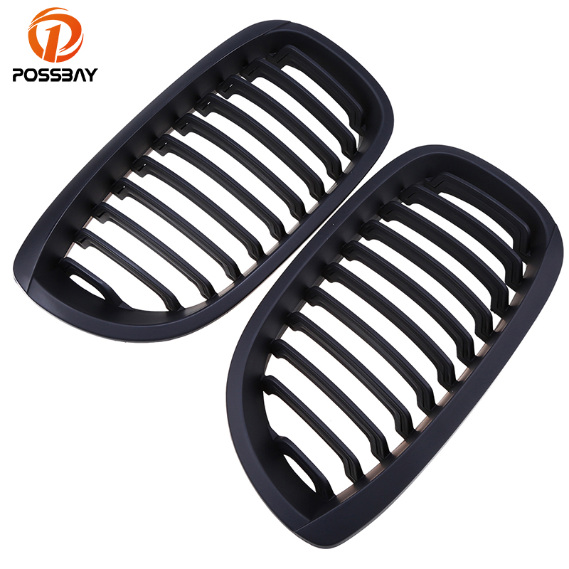 POSSBAY Car Front Kidney Grills Matte Black Grille for BMW 3-Series E46 320Ci/325Ci/330Cd/316Ci Coupe/Cabrio 2003-2006 Facelift bmw 645 ci cabrio convertible 1 24