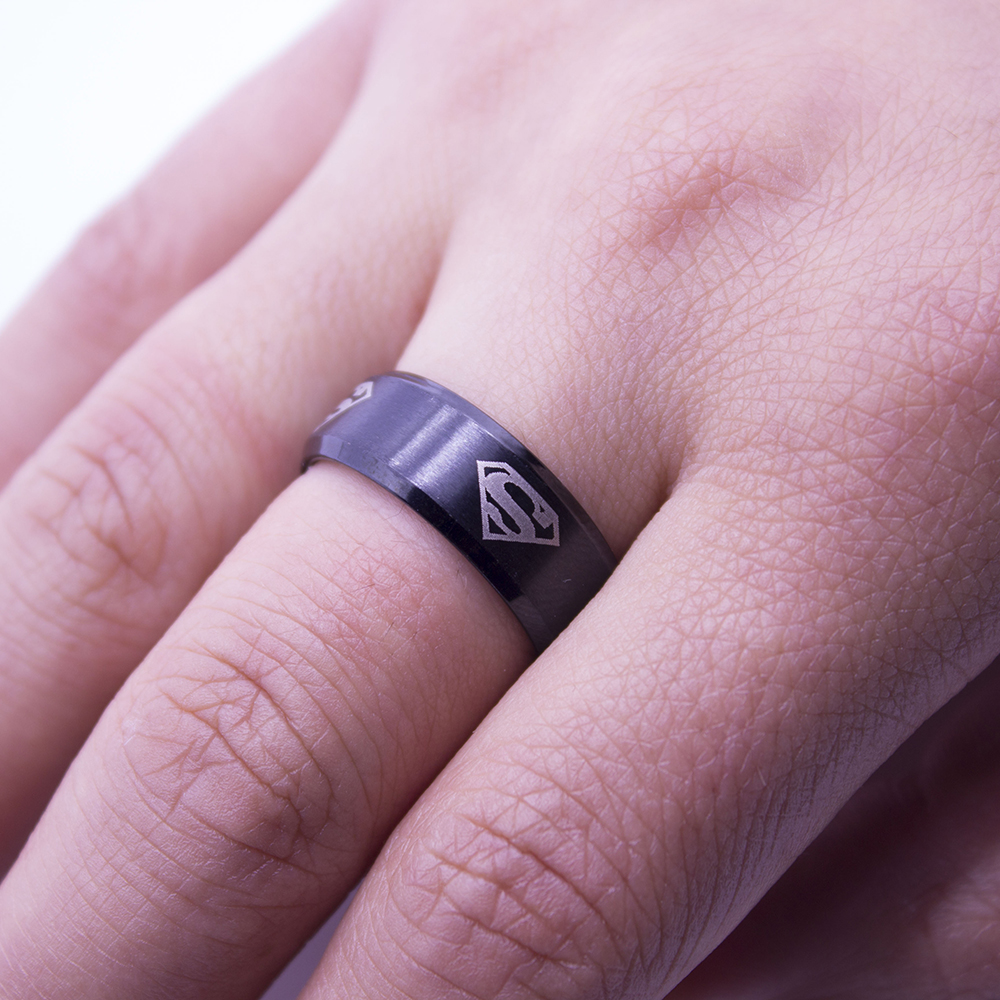 New Fashion Superman Ring Stainless Steel Wedding Rings Jewelry for ...