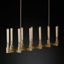 RH American Retro Copper Gold Led Chandelier E14  Bulbs Luminarias Pendant Lighting Fixtures Lamparas