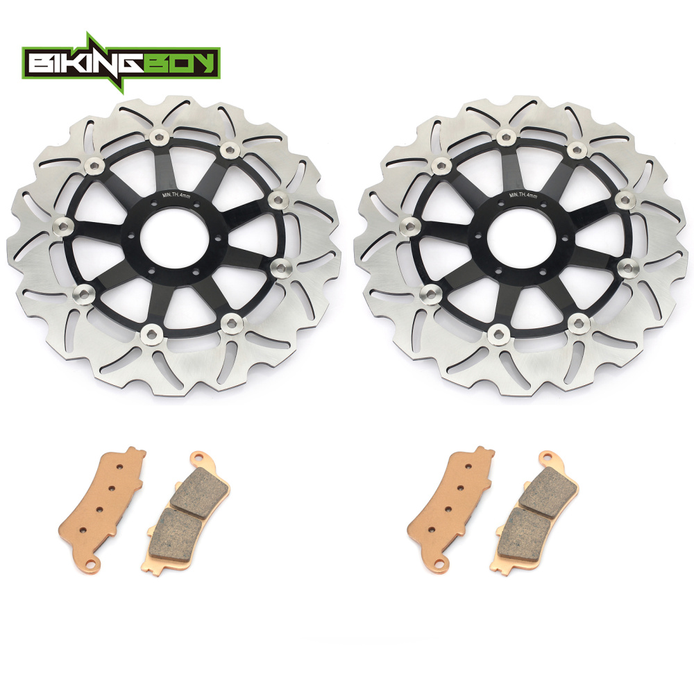 New Front Brake Discs Rotors + Pads Set for HONDA VFR 800 A Fi Interceptor ABS  GL 1800 Goldwing All models 2001 2014-in Brake Disks from Automobiles & Motorcycles    1