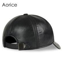 Deluxe Leather Adjustable Black Baseball Cap