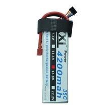 2 pcs XXL Lipo Batterie 4200 mah 14.8 V 4S 35C RC Toys & Loisirs Pour Hélicoptères RC Modèles AKKU Bateria