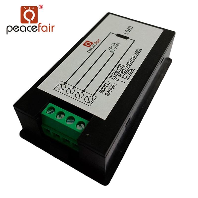 Peacefair AC egyfázisú digitális LCD ampermérő voltmérő - Mérőműszerek - Fénykép 5
