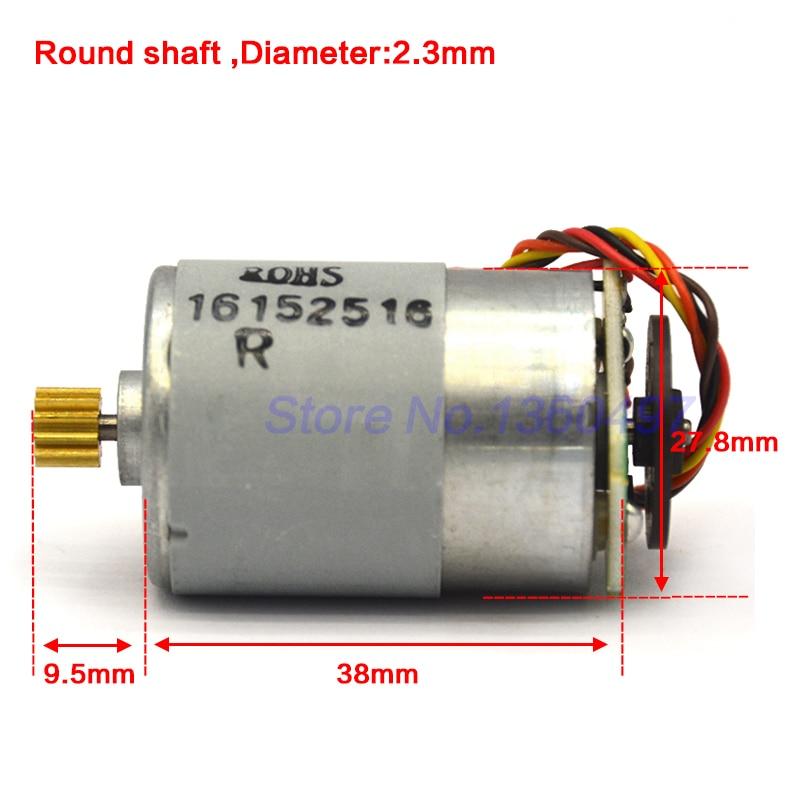 1pcs DC12V  50*36mm DIY DC Small Motor Large Torque 3mm D Type Axis DC Motor