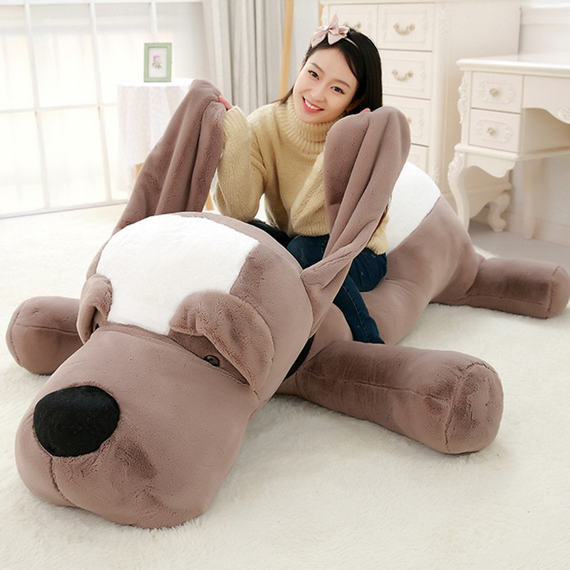 Fancytrader Giant Plush Stuffed Animals Lying Dog Toys Big Soft Sleeping Puppy Dogs Pillow Doll 4 Sizes