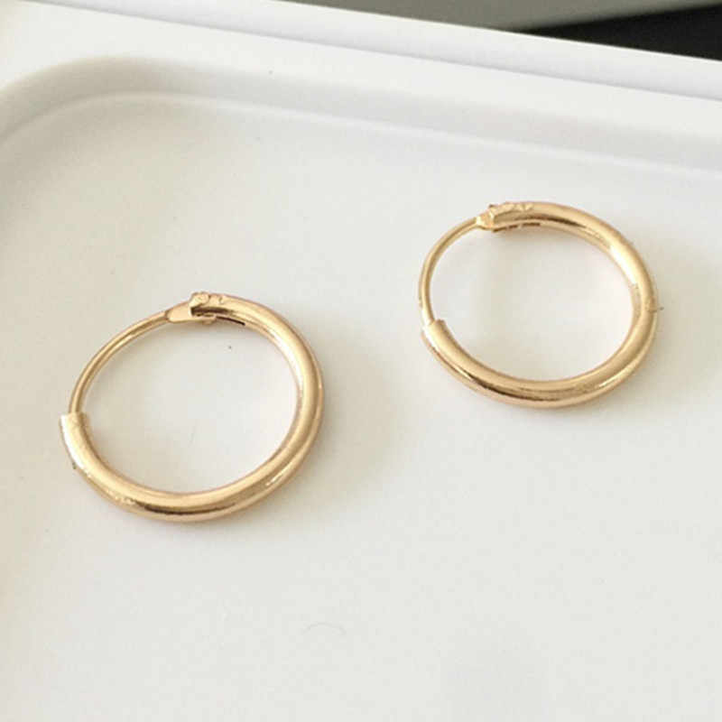 Trendy Statement Earrings Silver Color/Gold Color Small Circle Earrings for Men Women Punk Earring Party Jewelry