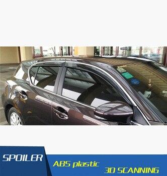 For CT200H lexus Plastic Window Visor Vent Shades Sun Rain Deflector Guard For CT200H lexus Auto Accessories 4PCS/SET 2011-2015