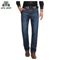 Free Shipping AFS JEEP Men S Clothing Brand Men S Denim Trousers Autumn And Winter Thick