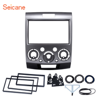 Seicane Silver 2DIN Car Radio Fascia Stereo Interface Car Styling Dash Kit Frame For Ford Everest Ford Ranger Mazda BT 50