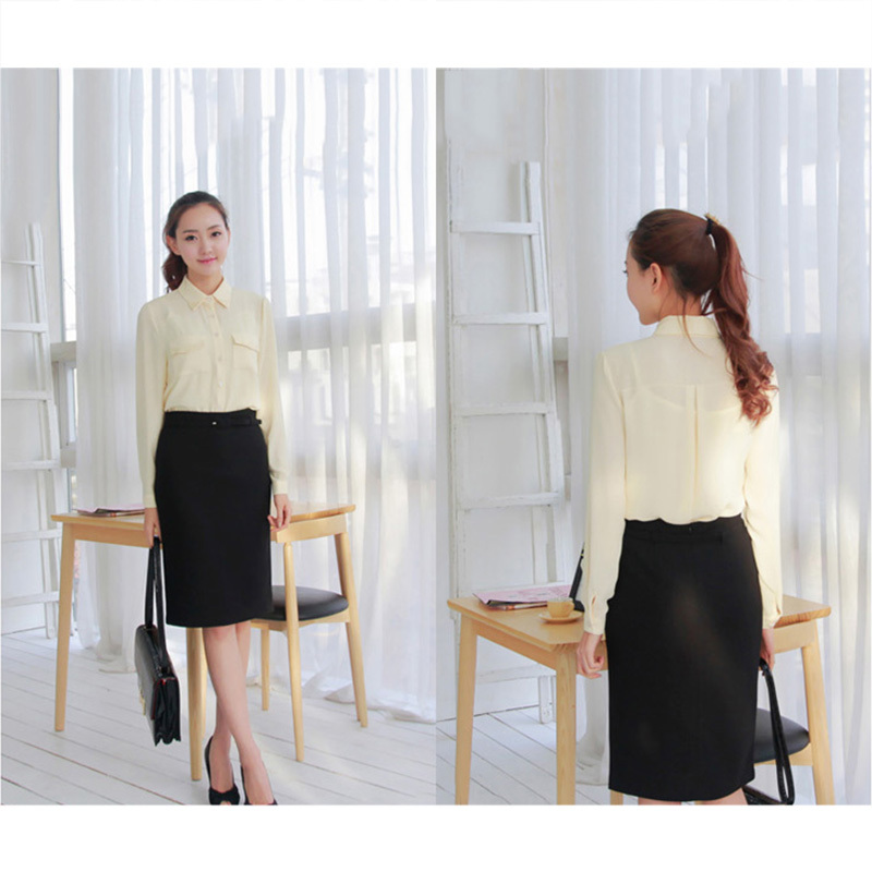 Woman Summer Long Pencil Skirts Ladies Formal Business Suit Knee ...