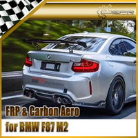 Car styling Carbon Fiber A Style Rear GT Spoiler Glossy Fibre Trunk Wing Racing Auto Body Kit Trim Fit For BMW F87 M2